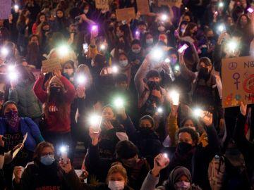 Manifestación en Barcelona por el 8M