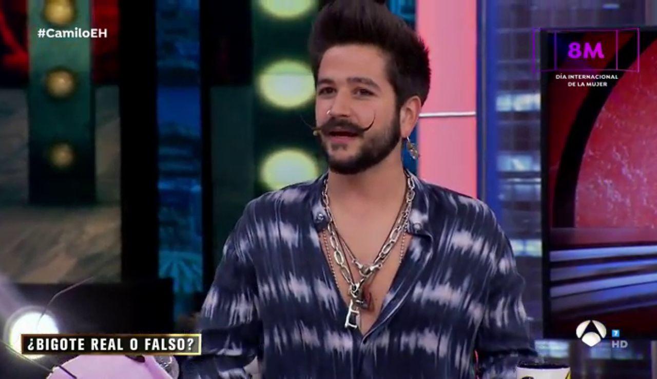 El gran reto de Camilo en 'El Hormiguero 3.0': ¿sabe reconocer qué bigote es real y cuál falso?