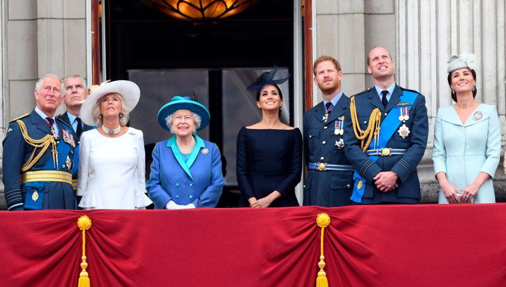 La Familia Real británica, en una imagen de archivo.