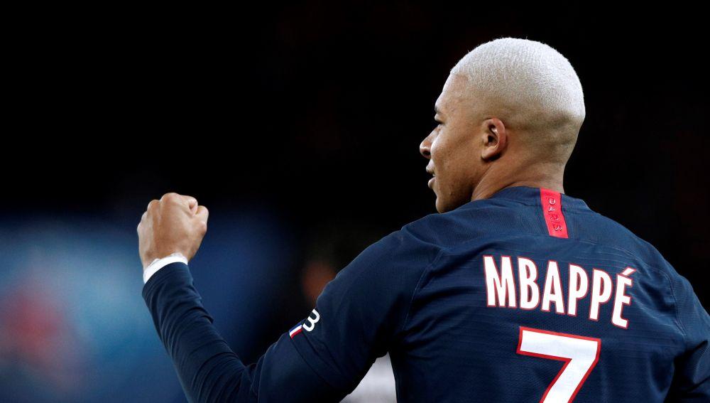 Kylian Mbappe celebra un gol en un partido del PSG