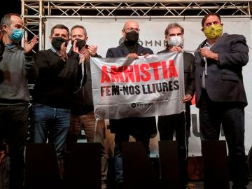 Seis de los presos del procés, Jordi Turull, Jordi Sànchez, Joaquim Forn, Raül Romeva, Jordi Cuixart y Oriol Junqueras