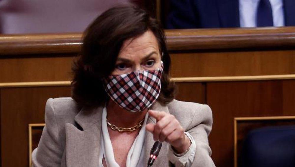 Carmen Calvo en el Congreso de los Diputados