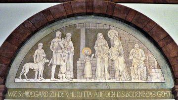 Santa Hildegard y Santa Jutta en la Abadía de Eibingen
