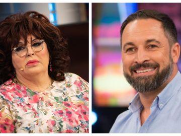 Paca La Piraña y Santiago Abascal