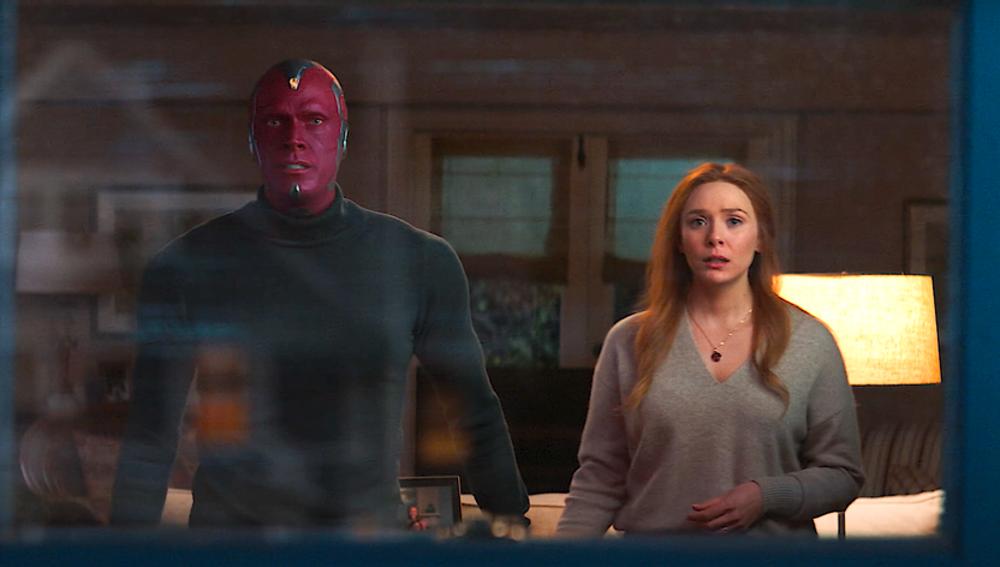 Paul Bettany y Elizabeth Olsen en 'WandaVision'