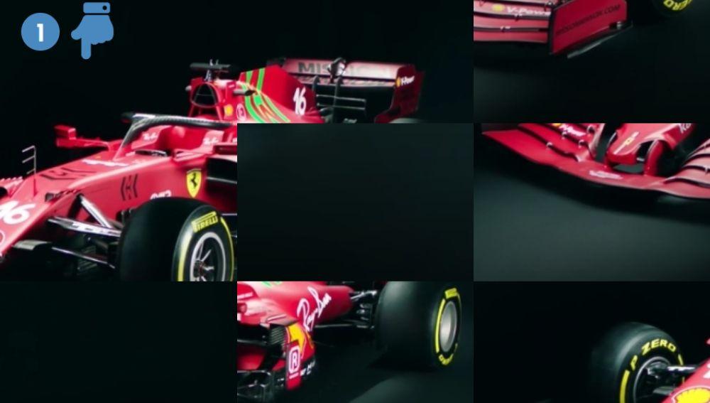 PUZZLE Reconstruye el nuevo Ferrari SF21 de Carlos Sainz