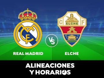 Real Madrid - Elche: Horario, alineaciones y dónde ver el partido de Liga Santander en directo