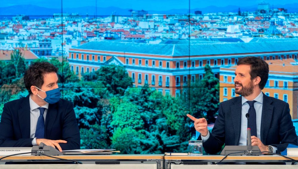 Teodoro García Egea y Pablo Casado, en una imagen de archivo.