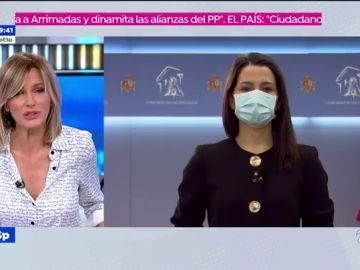 """Inés Arrimadas, tras la moción de censura en Murcia:  """"Que Ayuso convoque elecciones cuando le dé la gana es una irresponsabilidad"""""""