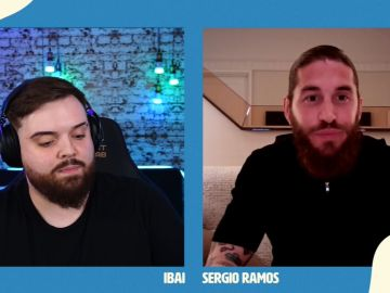 Entrevista de Ibai Llanos a Sergio Ramos en Twitch