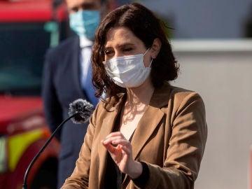 La presidenta madrileña, Isabel Díaz Ayuso