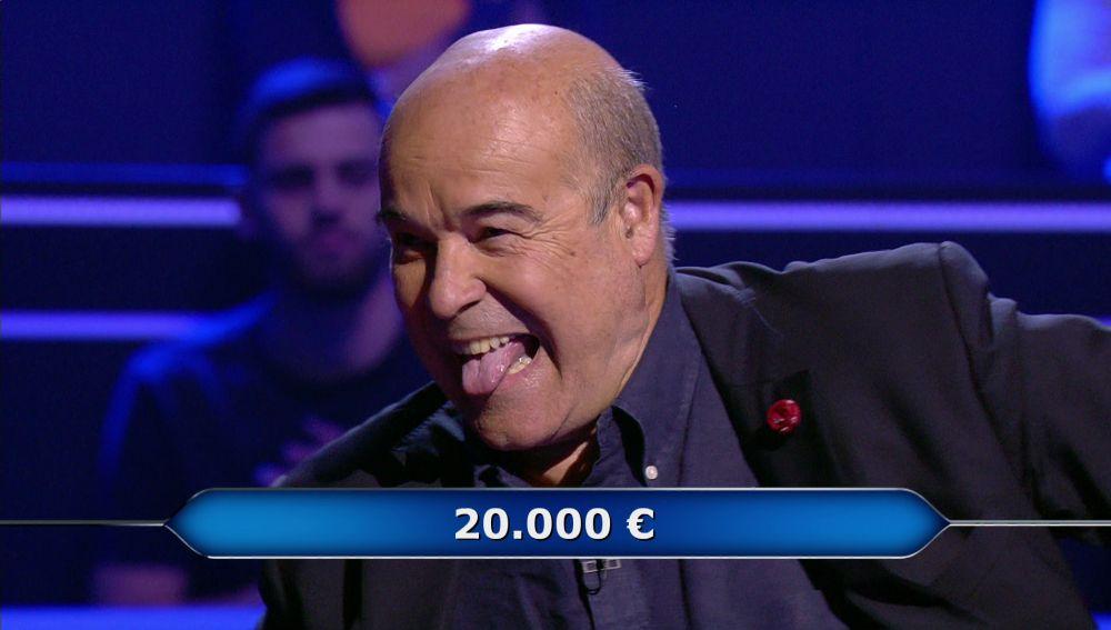 ¡Vaya 'champion'! Antonio Resines demuestra su madridismo para llegar a los 20.000 euros