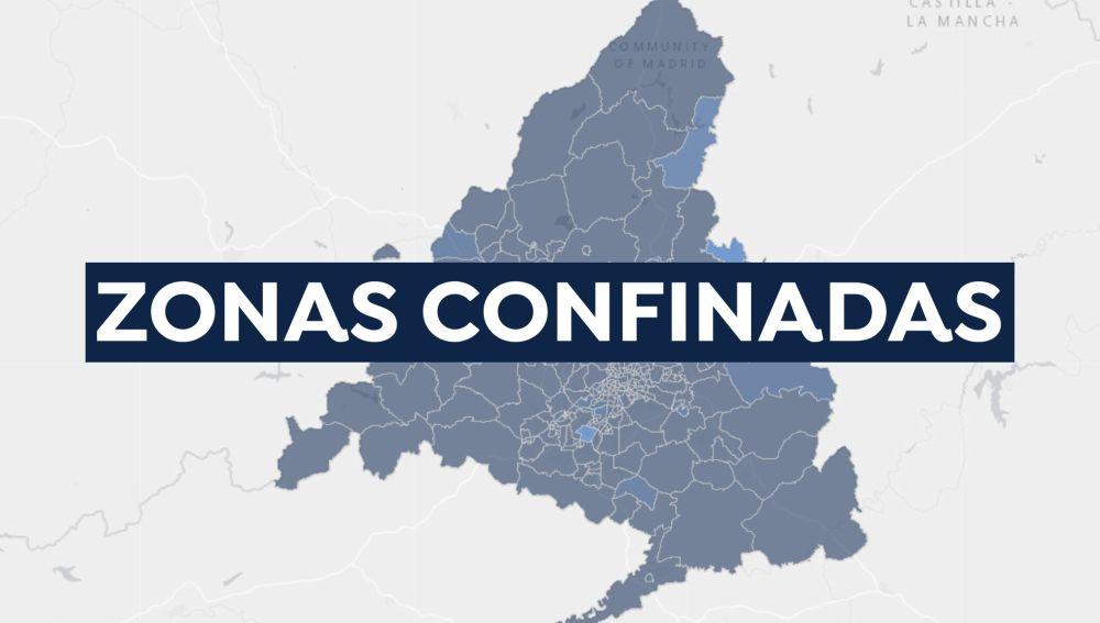Mapa de zonas básicas de Madrid confinadas y restricciones hoy