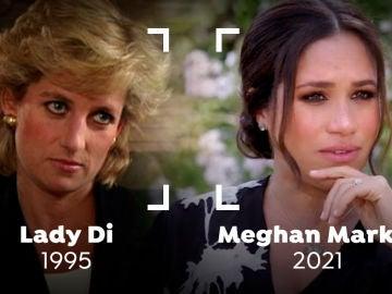 Las similitudes entre la entrevista de Lady Di y la de Meghan Markle y el príncipe Harry