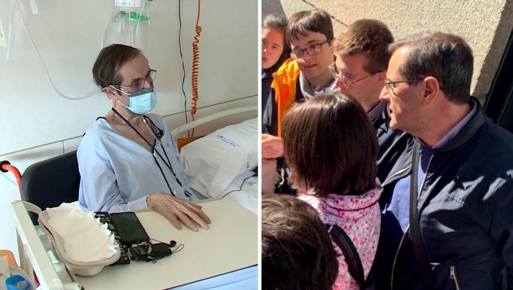 Emilio antes y después de tener coronavirus