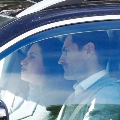 Sara Carbonero e Iker Casillas en el coche