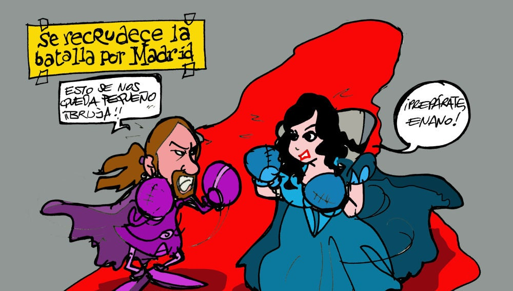 Viñeta Madrid de Alfredo Boto-Hervás