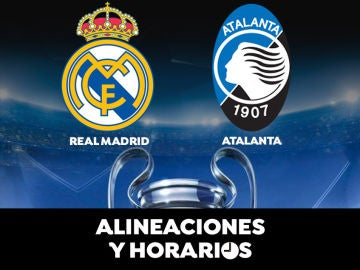 Real Madrid - Atalanta: Horario, alineaciones y dónde ver el partido de la Champions League en directo