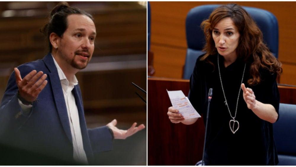 Pablo Iglesias y Mónica García