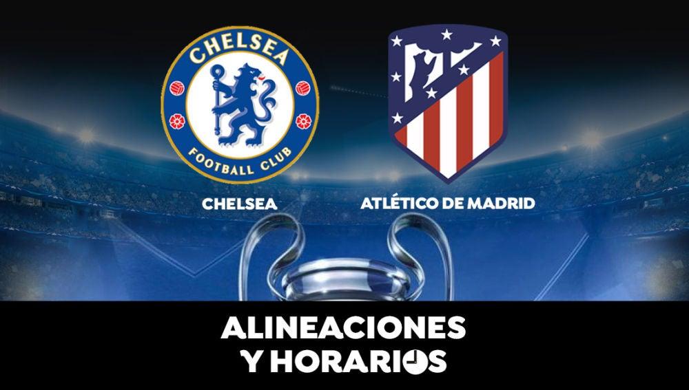 Chelsea - Atlético de Madrid: Horario, alineaciones y dónde ver el partido de la Champions League en directo