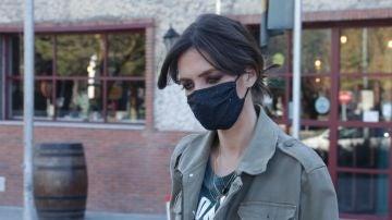 Sara Carbonero saliendo de un restaurante