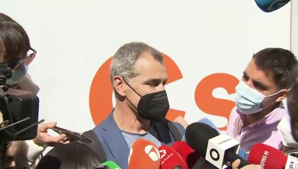 Toni Cantó dimite de la Ejecutiva de Ciudadanos y entregará su acta de diputado en las Cortes Valencianas
