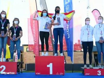 """Silvia Mas y Patricia Cantero, campeonas del mundo de clase 470 en Portugal: """"Queda seguir trabajando y dar lo máximo en Tokio"""""""
