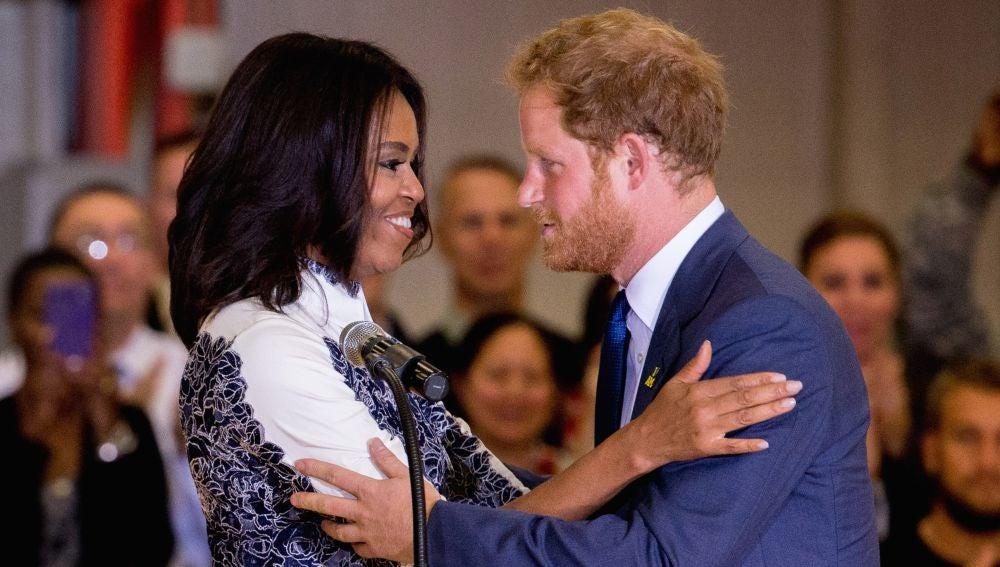 Michelle Obama y el príncipe Harry
