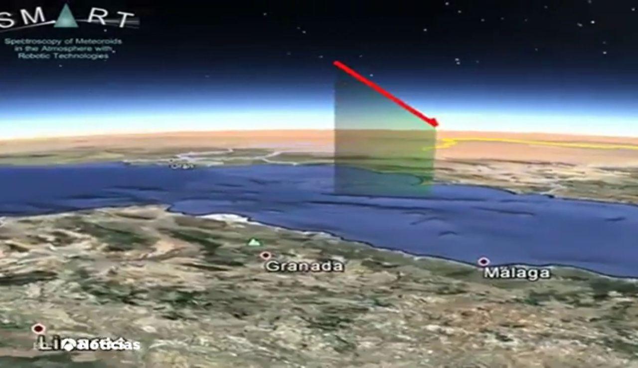 Detectan una bola de fuego sobrevolando el mar Mediterráneo a 140.000 kilómetros por hora
