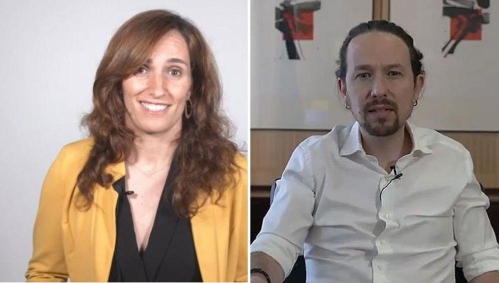 Mónica García y Pablo Iglesias