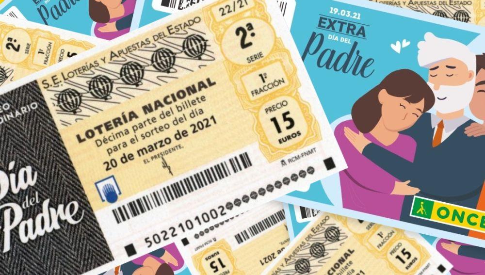 Sorteo Extraordinario del Día del Padre de la Lotería Nacional y sorteo Extra del Día del Padre de la ONCE 2021