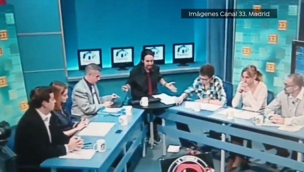 Tertulia política de 2012 en la Tuerka con Pablo Iglesias, Isabel Díaz Ayuso e Íñigo errejón