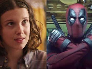 Millie Bobby Brown en 'Stranger Things' y Ryan Reynolds en 'Deadpool'