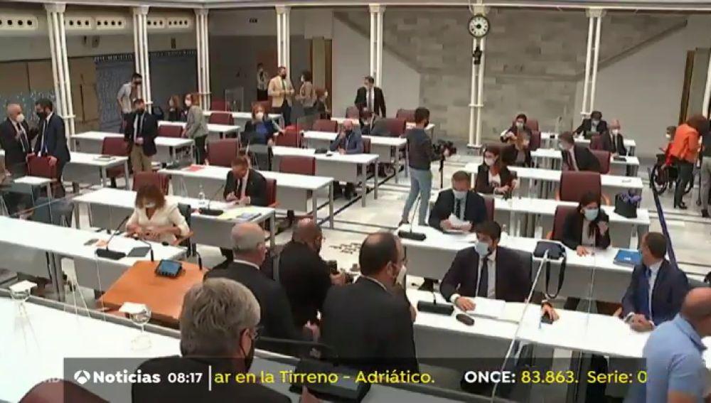 DIRECTO: El debate de la moción de censura en Murcia hoy miércoles 17 de marzo, vídeo en streaming