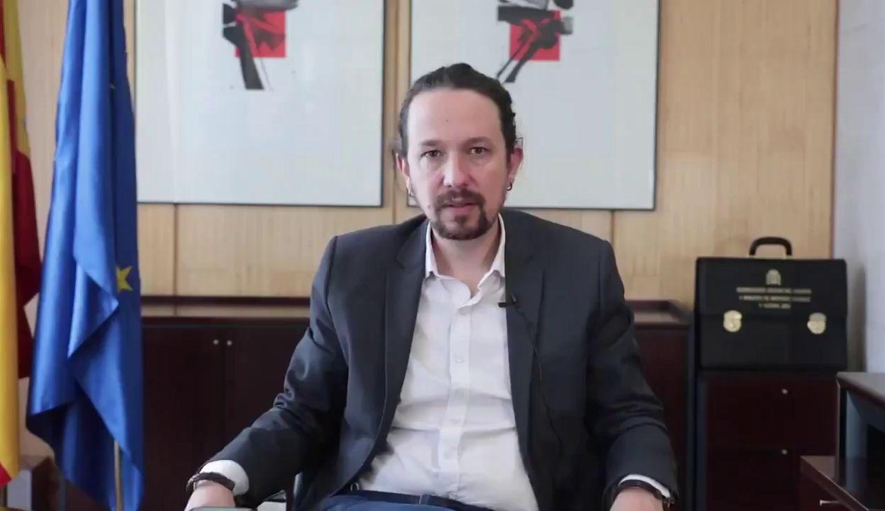 Así ha sido el video con el que Pablo Iglesias se ha despedido del Consejo de Ministros