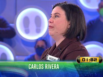 """""""Carlos Rivera es muy grande"""": Merche se emociona con una pregunta en '¡Ahora caigo!'"""