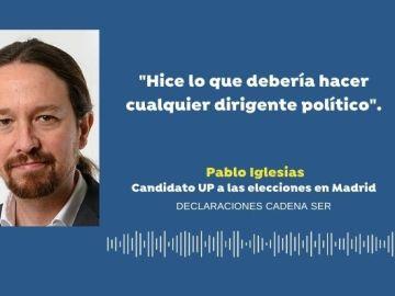 """Pablo Iglesias: """"Ayer hice lo que debería hacer cualquier dirigente político, plantar cara a cualquier neonazi"""""""