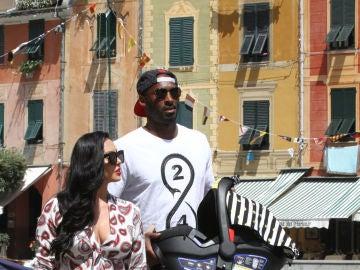 Vanessa Bryant y Kobe Bryant en Portofino