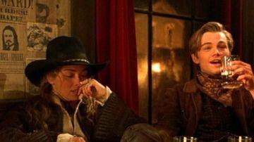 Sharon Stone y Leonardo DiCaprio en 'Rápida y mortal'