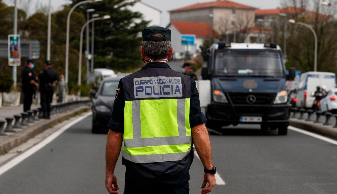 Control policial frontera España con Francia