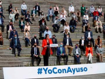 Isabel Díaz Ayuso en la campaña del PP para las elecciones de Madrid