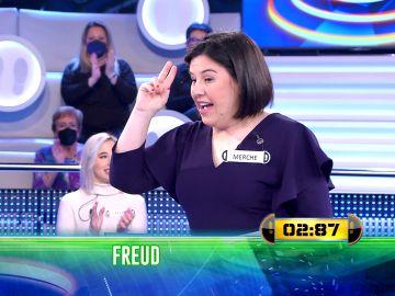 Merche demuestra sus increíbles conocimientos sobre Freud en '¡Ahora caigo!'