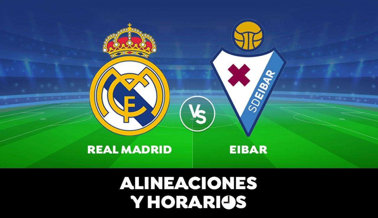 Real Madrid - Eibar: Horario, alineaciones y dónde ver el partido de Liga Santander en directo