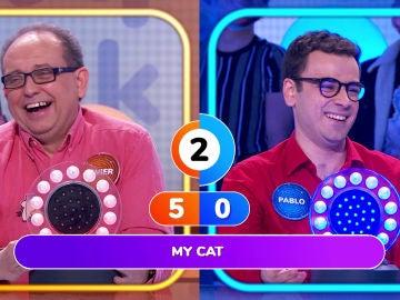 """""""Mi gato hace miau miau"""", la desternillante versión de Pablo de la canción de Rosario en 'La Pista'"""