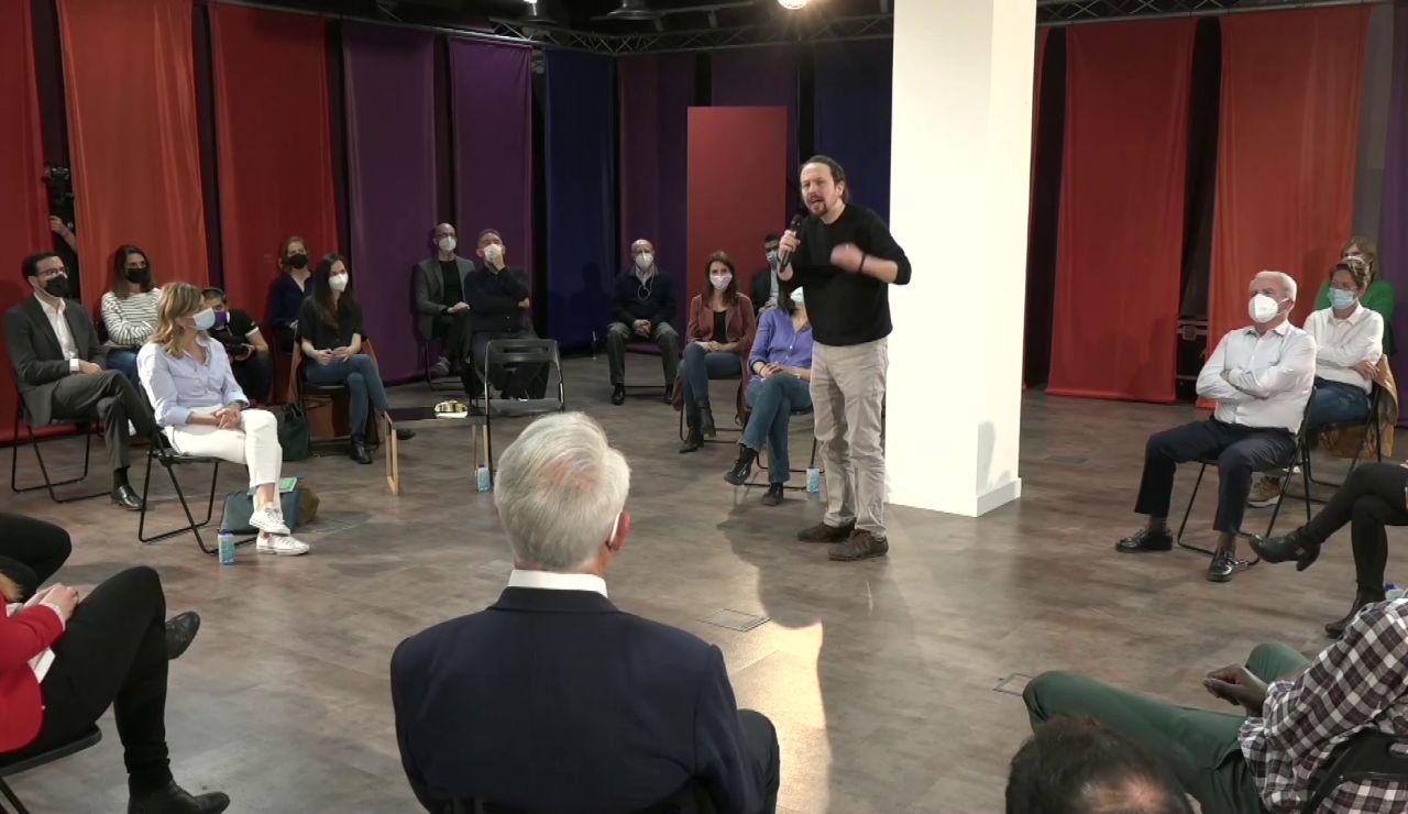 Pablo Iglesias presenta el equipo de Unidas Podemos para las elecciones en Madrid