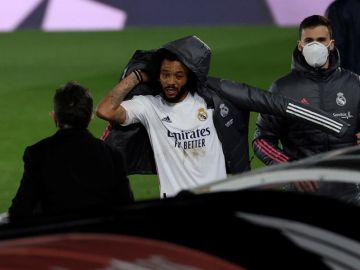 Marcelo, en un partido del Real Madrid