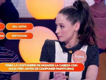 Elena Rivera, una dura competidora, deja boquiabierto a Roberto Leal en 'Una de cuatro'