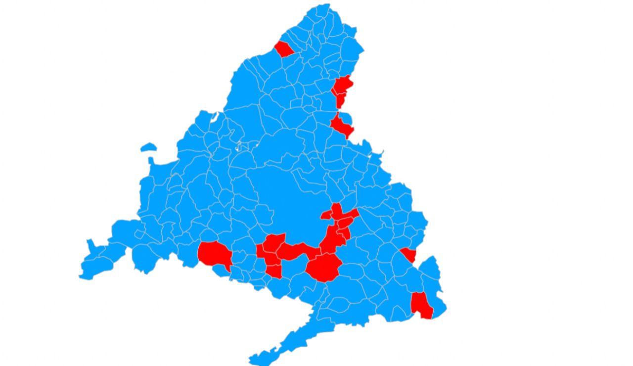 Encuesta: El mapa de Madrid se pintaría de azul en las elecciones del 4-M; el PP ganaría en 162 municipios