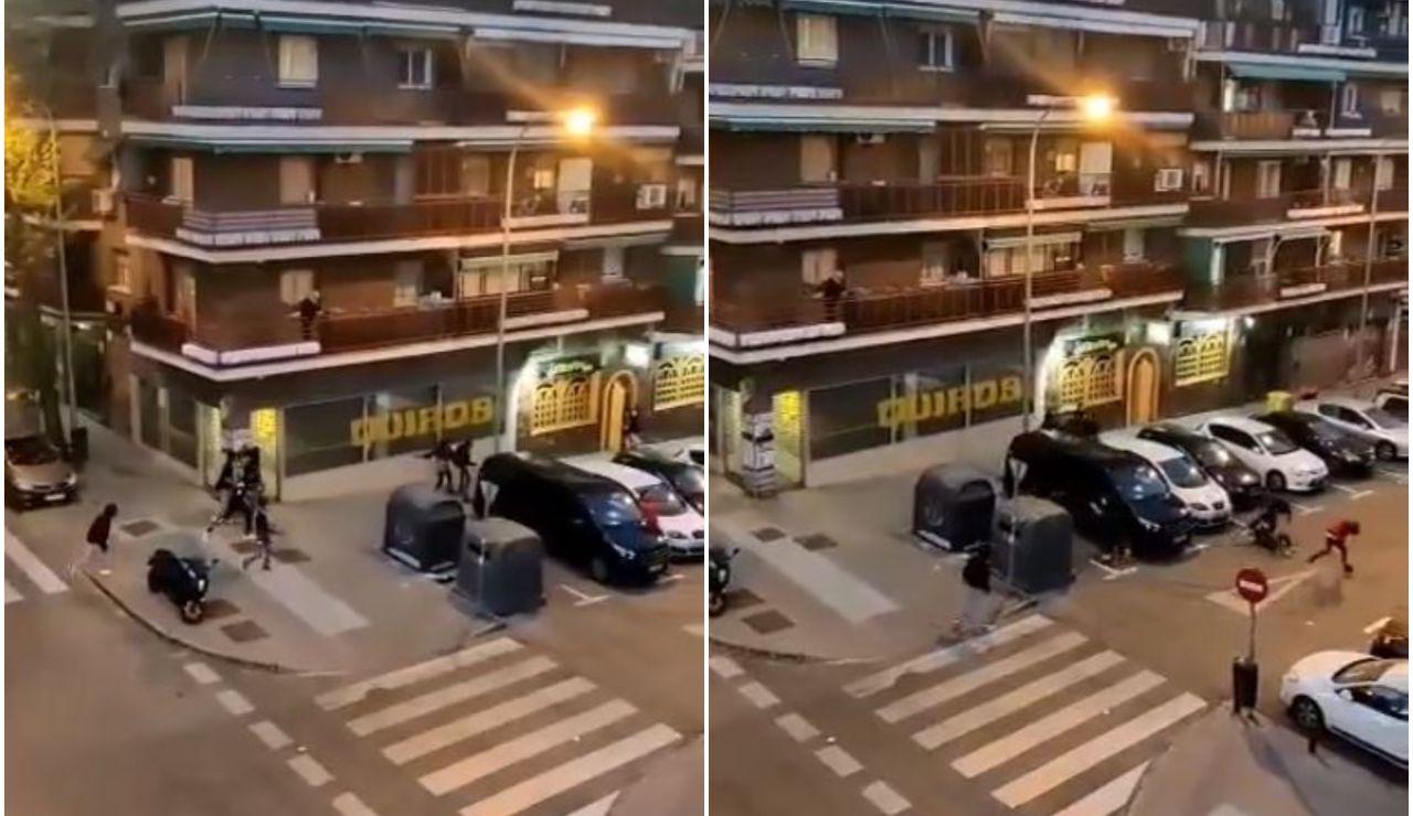 El vídeo del salvaje tiroteo entre bandas rivales en Ciudad Lineal, Madrid