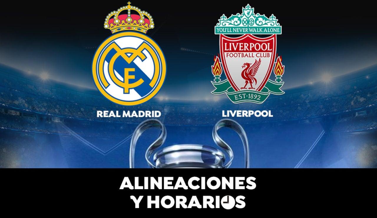 Real Madrid - Liverpool: Horario, alineaciones y dónde ver el partido de la Champions League en directo